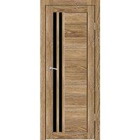 Дверное полотно 'Квебек' Ель карпатская, черный лакобель 2000х700