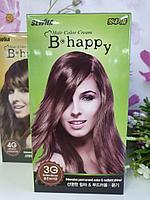 Крем-краска для волос с эффектом ламинирования SEWHA B-Happy Hair Color Cream (3G - золотистый коричневый)