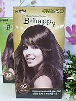 Крем-краска для волос с эффектом ламинирования SEWHA B-Happy Hair Color Cream (4G - мягкий шатен)