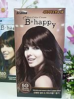 Крем-краска для волос с эффектом ламинирования SEWHA B-Happy Hair Color Cream (5G - кофейный шатен)