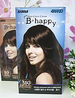 Крем-краска для волос с эффектом ламинирования SEWHA B-Happy Hair Color Cream (5.5G - темный кофейный шатен)