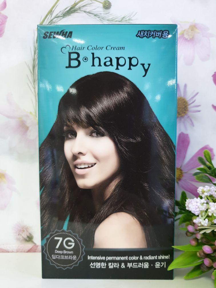 Крем-краска для волос с эффектом ламинирования SEWHA B-Happy Hair Color Cream (7G - глубокий шатен)