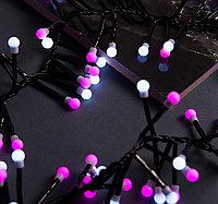 """LED гирлянда """"Нить"""" - 4,3 метра (+ 2 метра провод), 300 лампочек, микс (белый и розовый))"""