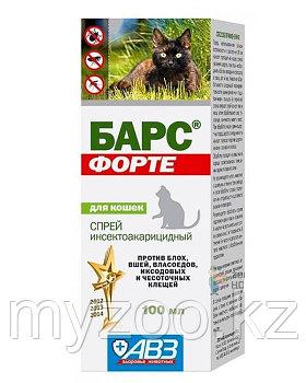 Барс Форте спрей инсект. для кошек 100 мл