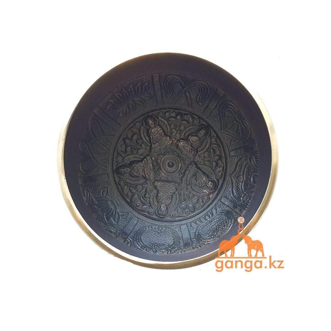 Поющая чаша Черная, диаметр 8.5 см