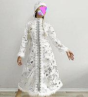 """Новогодний костюм """"Снегурочки""""белая."""
