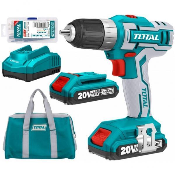 Дрель аккумуляторная 20 вольт Total (TDLI2002)