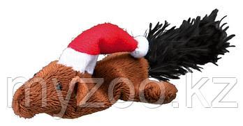 Игрушка для кошек новогодняя.  Плюшевая мышка или бурундук