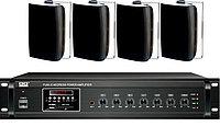 Комплект с настенной акустикой Beta-Sound до 150 м2 (для кафе, баров, ресторанов), фото 1