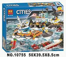 Конструктор BELA Cities Штаб береговой охраны 10755 (Аналог LEGO City 60167) 844 дет