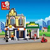 """Конструктор SLUBAN """"Город-Деловой центр"""" Аналог лего Lego City 470 дет., фото 3"""