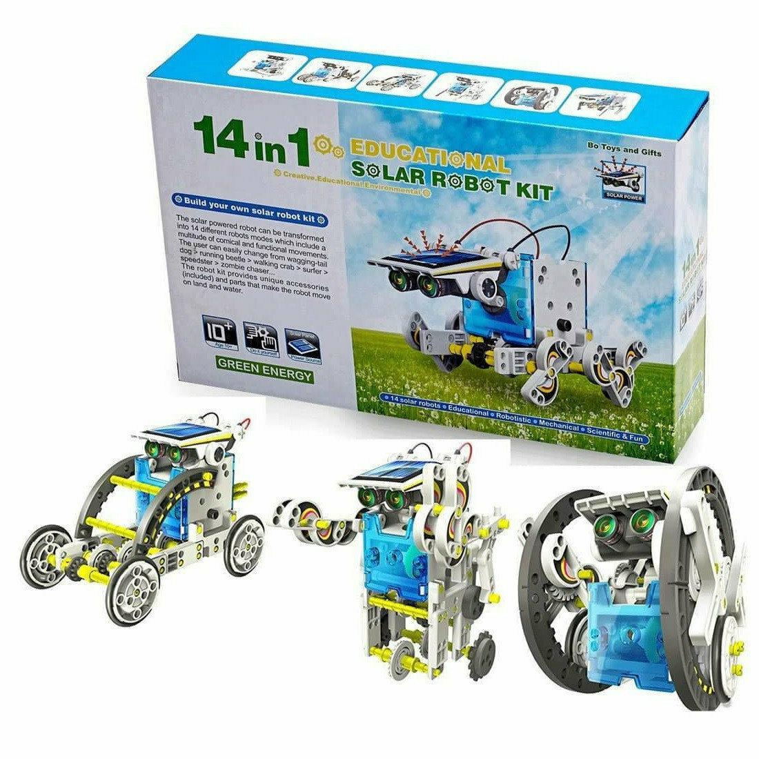 Робот-Конструктор 14 в 1. Solar Robot на солнечных батареях.