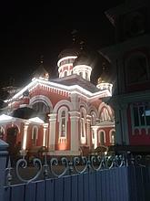 Подсветка фасада Собор Невский г. Алматы