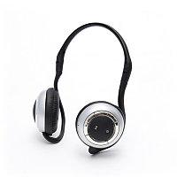 Наушники с микрофоном Global SX-905, Беспроводные Bluetooth, Микрофон, Чёрно-Серебристый, затылочные