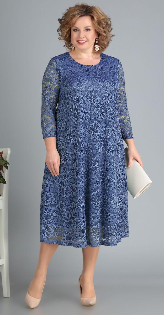 Платье Novella Sharm-3378-1, светло-синий, 60