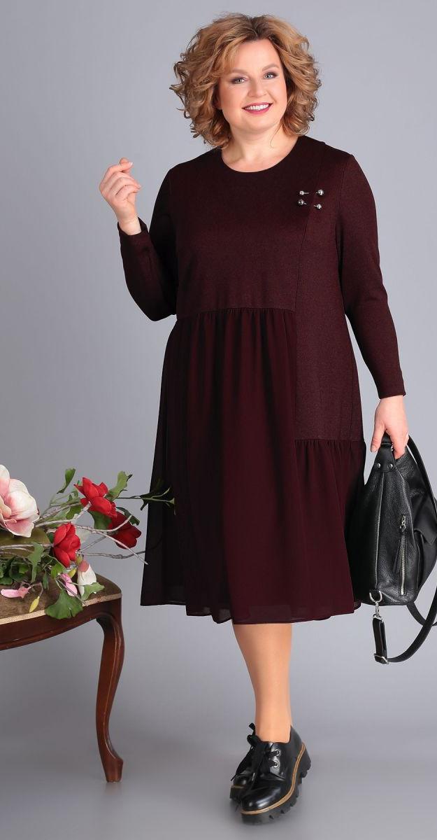 Платье Novella Sharm-3449-3, бордо, 60
