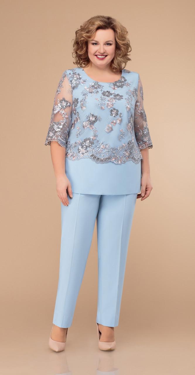 Костюм Svetlana Style-1303/1, голубой, 52