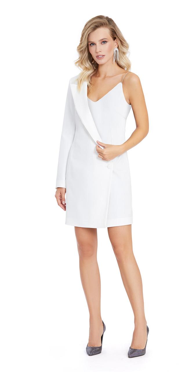 Платье PiRS-870/4, белый однотон, 42