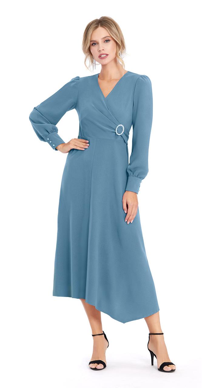 Платье PiRS-896/1, пыльная бирюза, 42