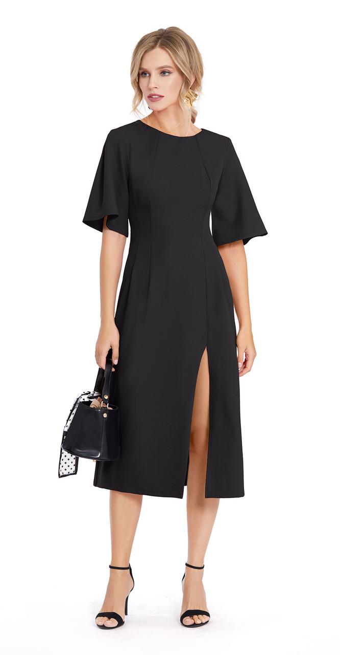 Платье PiRS-897/1, черный, 42