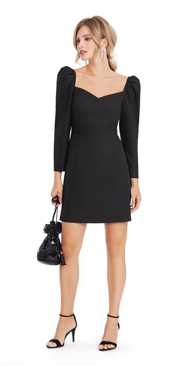 Платье PiRS-899/1, черный, 42