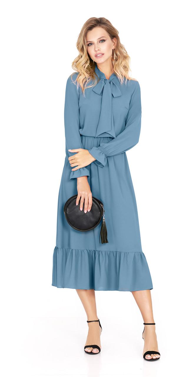 Платье PiRS-915/1, пыльная бирюза, 42