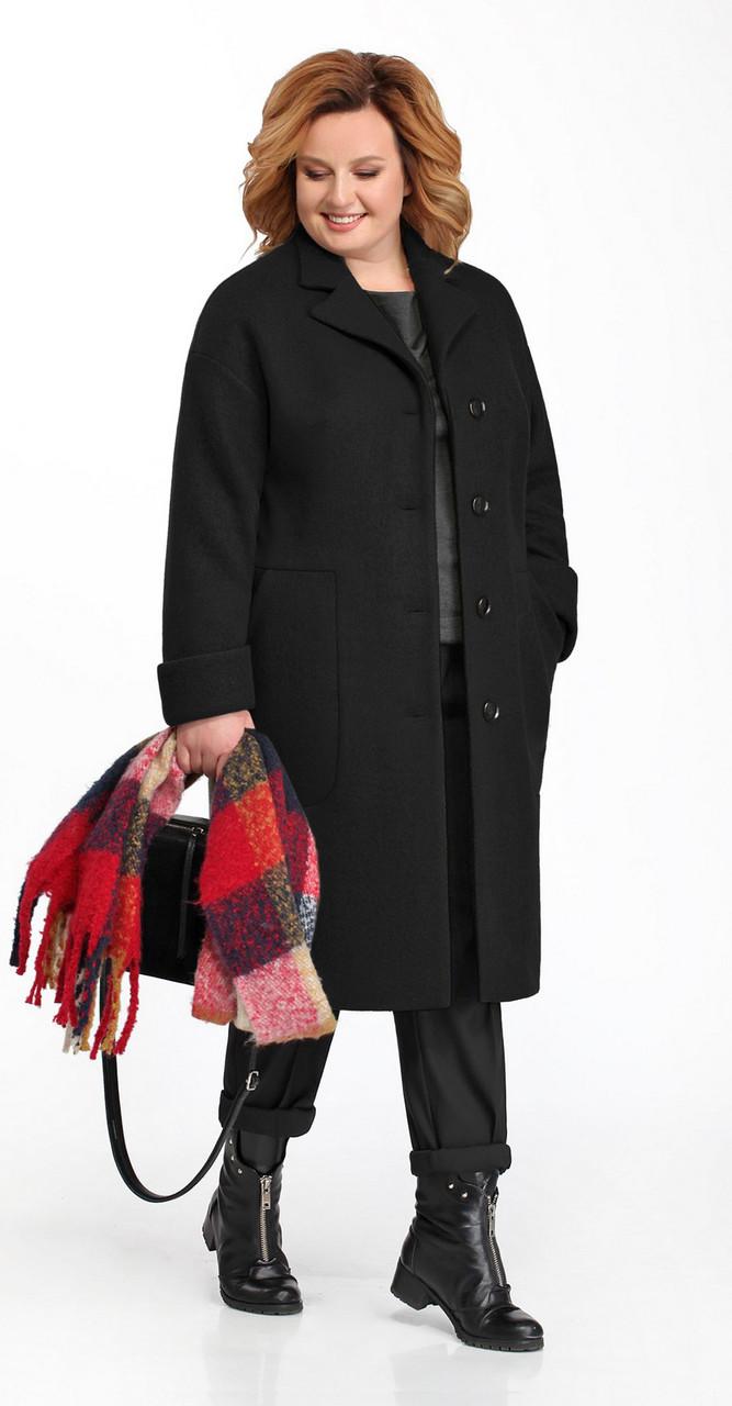 Пальто Pretty-832, черный, 54