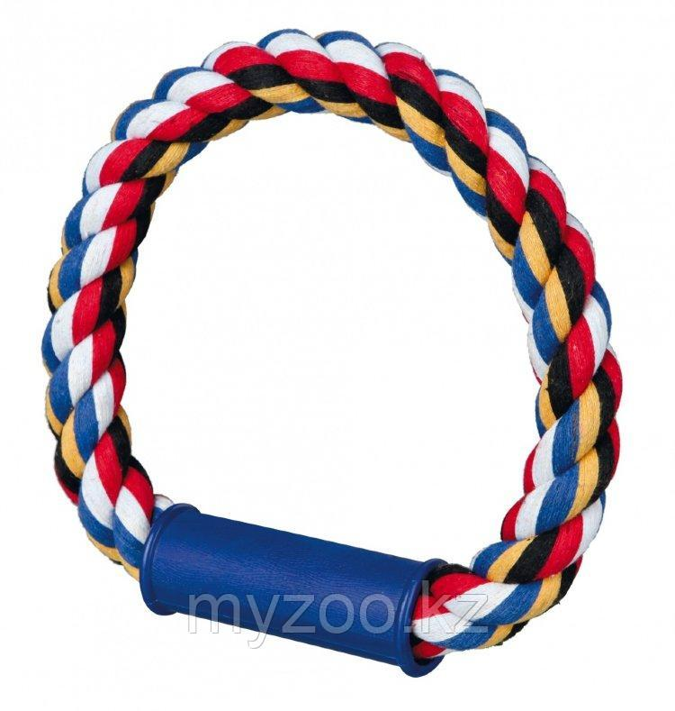 Игрушка для собак. Плетеное кольцо. Канат ,Размер: ø30 см.