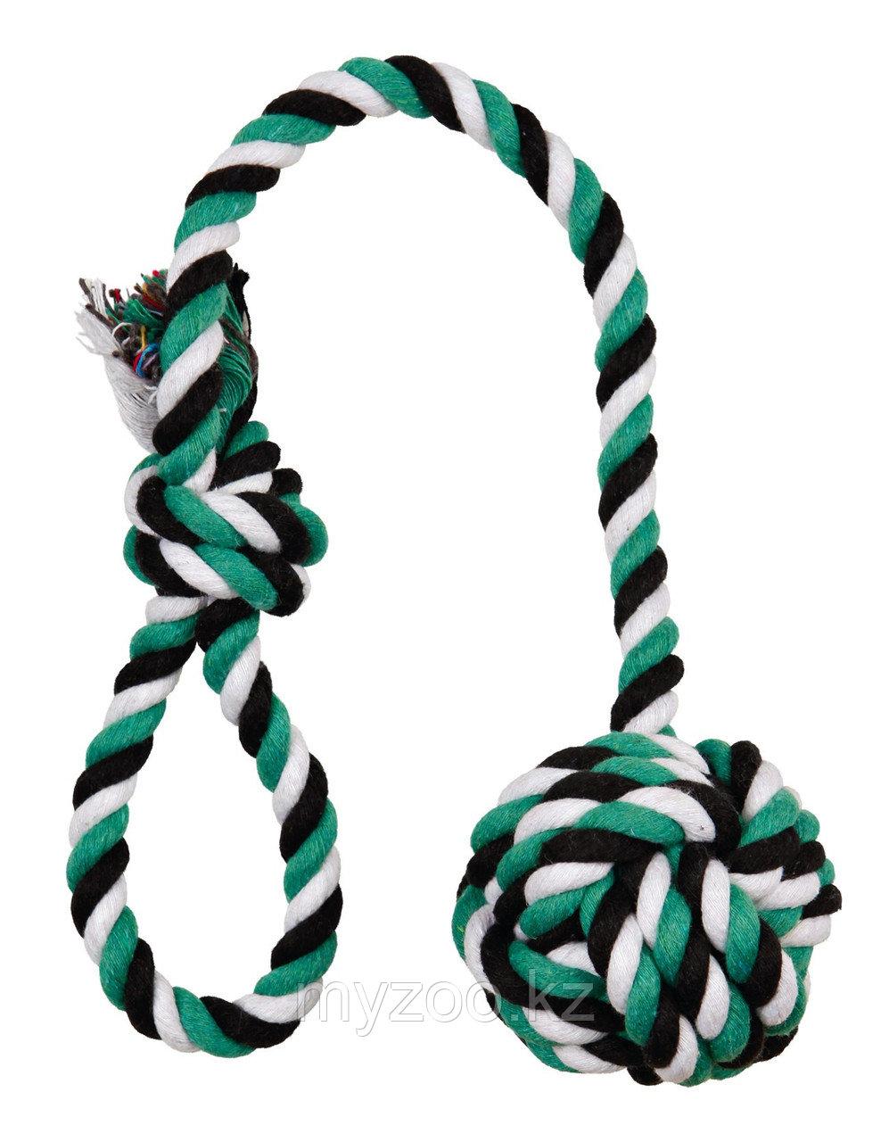 Игрушка DentaFun. Плетеная из веревок. Хлопок. Длина 50см, диам 7 см,