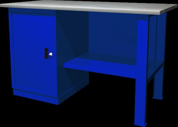 OWB1-10 Верстак с одной тумбой, тумба с 1 дверцей (состав: OWB-1000B, OWB-0214, OWB-0314B)