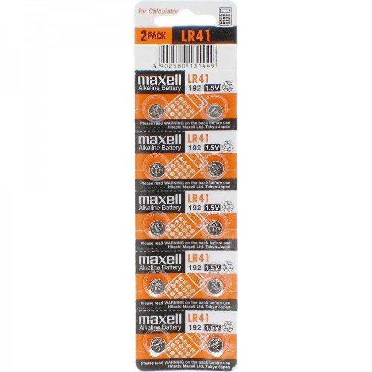 Батарейки таблетки   Maxell LR41