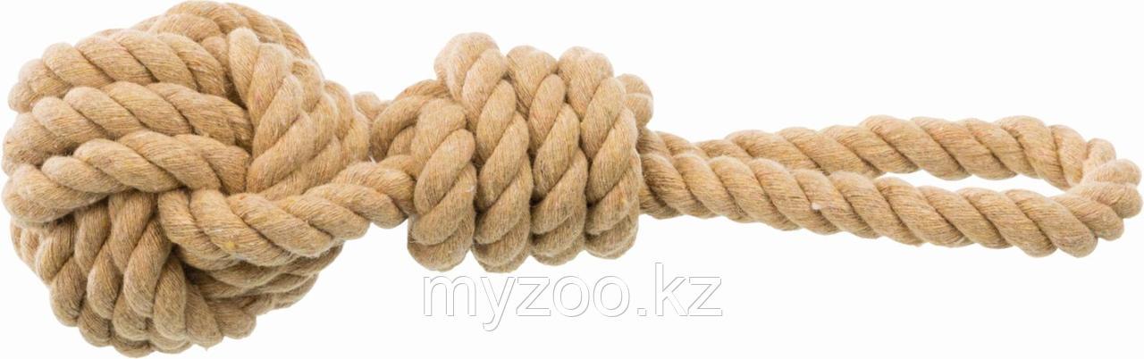 BE NORDIC игрушка для собак, плетеный мяч, с веревкой, ø 7/20 cm