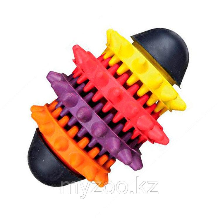 Игрушка для собак Denta Fun, натуральный каучук, для массажа десен и чистки зубов. 15 см