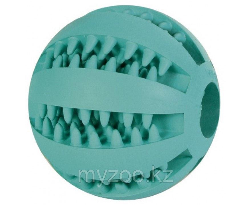 Игрушка для собак, мяч для массажа десен и чистки зубов, с мятным вкусом, из натурального каучука. ø 5 cm