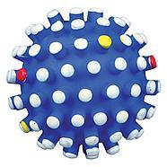 Игрушка для собак, мяч с шипами, со звуком, винил.  Разный цвет.          ø 12 cm, фото 2