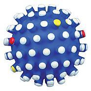 Игрушка для собак, мяч с шипами, со звуком, винил.  Разный цвет.          ø 10 cm, фото 2