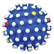 Игрушка для собак, мяч с шипами, со звуком, винил.  Разный цвет.          ø 6 cm, фото 2