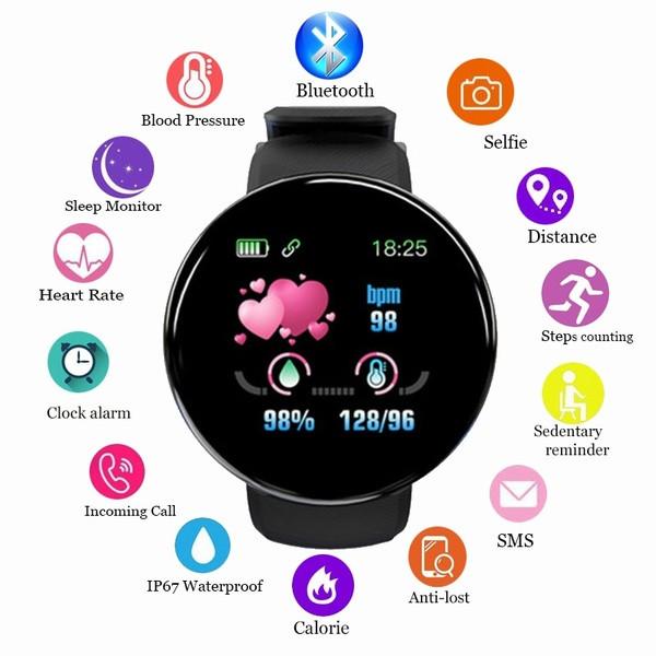 Смарт часы здоровья. 5 в 1 ( давление, пульс, шагомер, калории,часы)