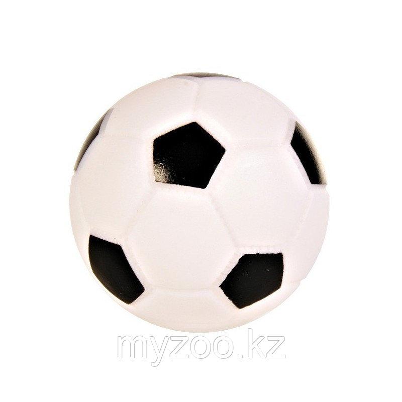 Игрушка для собак, мяч футбольный, со звуком, винил.       ø 10cm