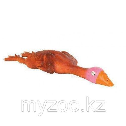 Игрушка для собак, утка, со звуком, латекс.   Р-р  14 cm