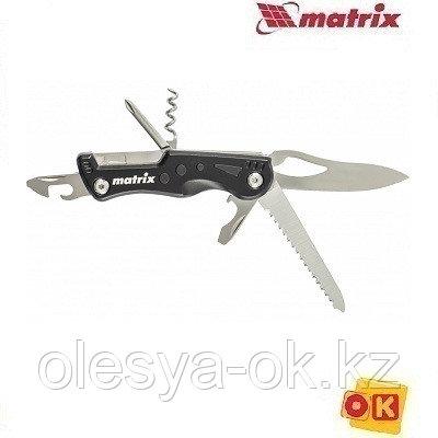 Нож многофункциональный, 7 функций, в чехле, 107 мм Matrix 17624