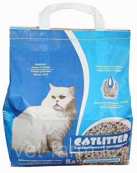 Наполнитель Сибирская кошка Catlitter 5 л комкующийся