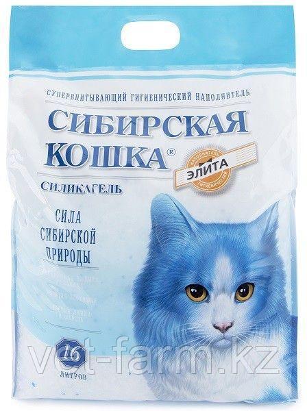 Наполнитель Сибирская кошка Элитный 16 л силикагель