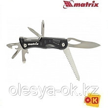 Нож многофункциональный, 11 функций, в чехле, 107 мм Matrix 17625