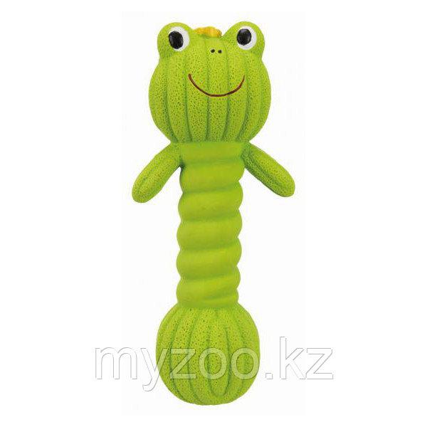 Игрушка для собак, гантель лягушка, latex, 18 cm