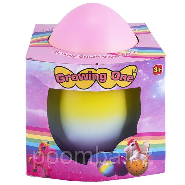Яйцо с единорогом, растущим в воде, огромное