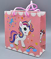 Пакет подарочный, картон, 15*14,5*6 см