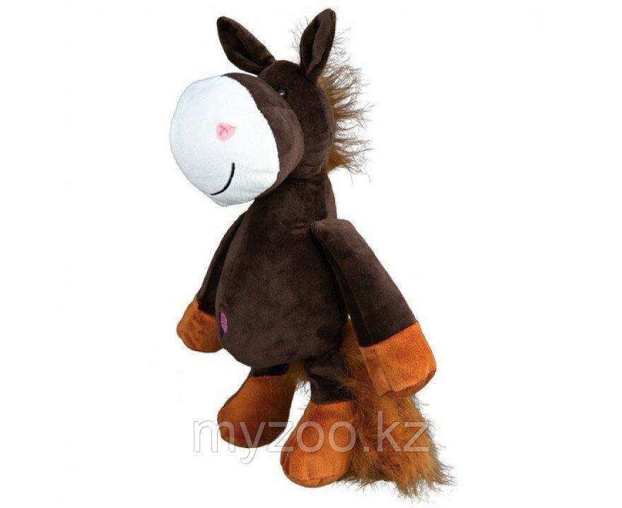 Игрушка для собак. Плюшевая лошадь. Со звуком. Длина 32 см