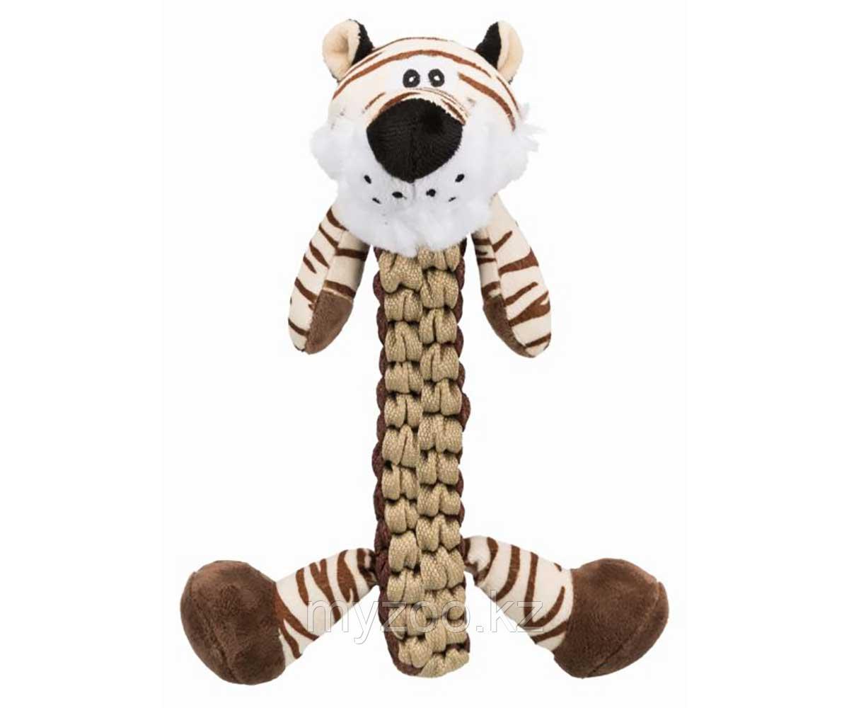 Игрушка для собак,  плетеный тигр, плюш, полиэстер, 32 cm