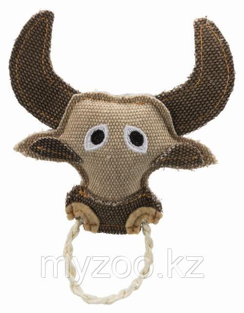 Игрушка для кошек, бык с веревочным кольцом, 16 cm